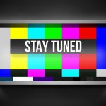 Stay Tuned waiting color television error screen.